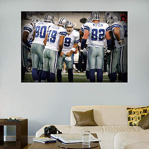 Cowboys Huddle In Your Face Mural Fathead Wall Decal